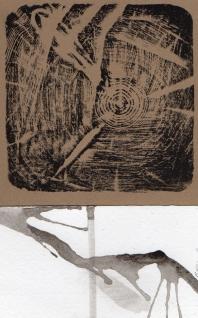 Pulp Ficton, relief, ink