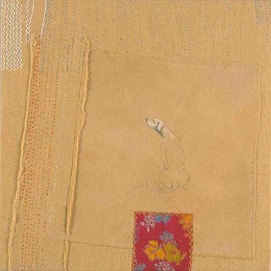 Waiting for Epiphany who is late embroidery on dyed felt, cotton
