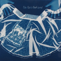 "The Ties that Bind, cyanotype, 22x30"" Domestic Wisdom series"